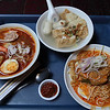 Nyonya Asam Laksa, Fish Filet Soup, and Baba Rendang Chicken Noodle