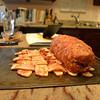 9:20 AM: meat torpedo assembled. Not visible: secret bacon innards.