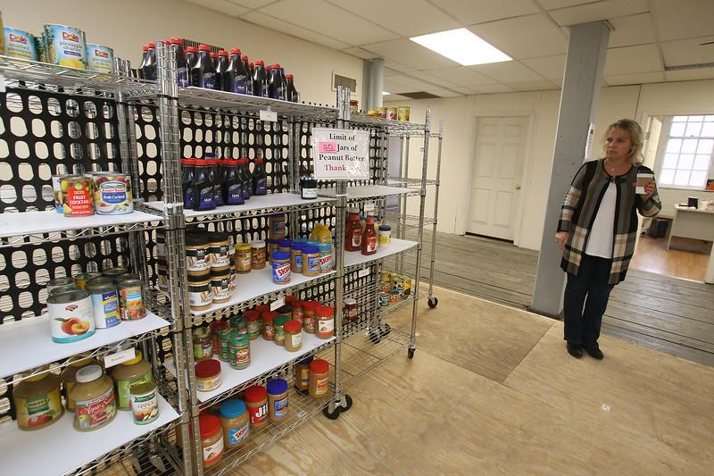 Merrimack Valley Food Bank assistant director Debbie Callery of Lowell. (SUN/Julia Malakie)
