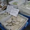 Market stall near St Agostino metro station. Salt fish.