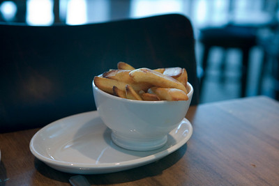 chips from a pub in London Heathrow Airport