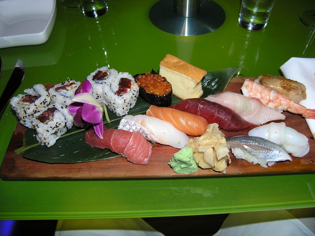 sushi hand made by Iron Chef Morimoto
