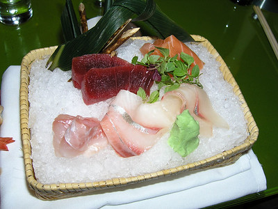 fresh sashimi hand made by Iron Chef Morimoto