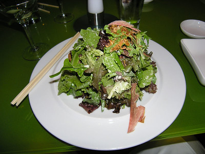 salad with bonito shavings