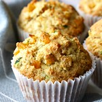 Zucchini and Roasted Corn Muffins