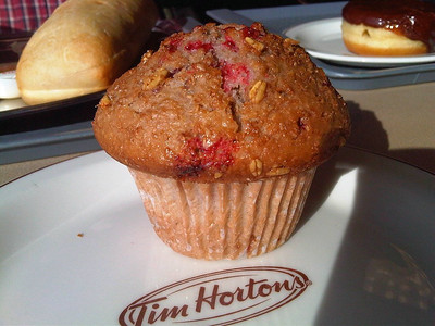 "Raspberry Muffin. Served in ""Tim Hortons""  27/01/13"