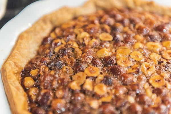 orange hazelnut pie