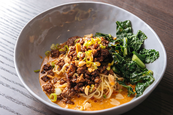 Dan Dan Noodles with Kale