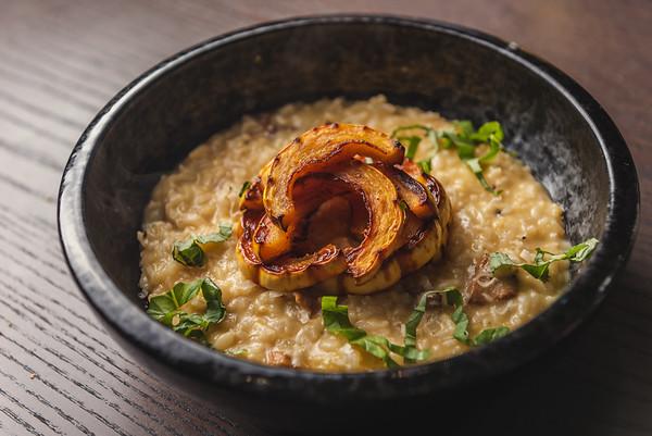 mushroom risotto with delicata squash