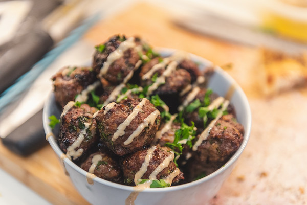 Lamb Meatballs with Tehina Sauce