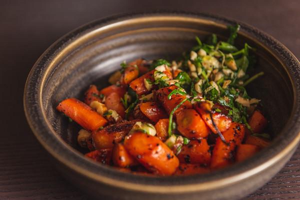 roast carrots with hazelnut gremolata