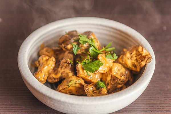 roast sunchokes with harissa