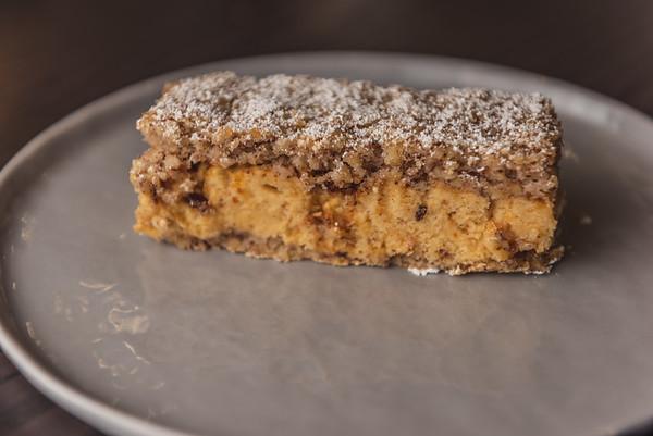 almond dacquoise with hazelnut buttercream