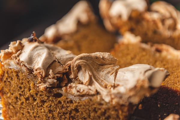 sweet potato cake with meringue