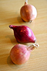 Shallots. I put these in my French onion soup for texture.