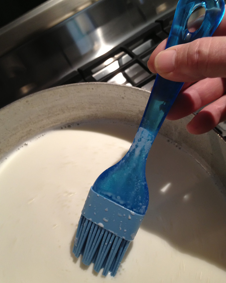 This tool is a must-have when making this recipe. If the milk is not constantly stirred and gently removed from the bottom and sides of the pot, it will scorch and ruin the cheese. This is the best tool for the job and you will thank me later when you don't have to remove what basically becomes spray-on truck bedliner from your pot.