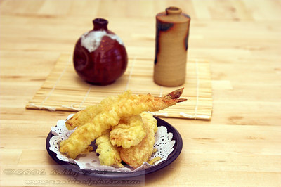 Fresh Shrimp Tempura ready to eat