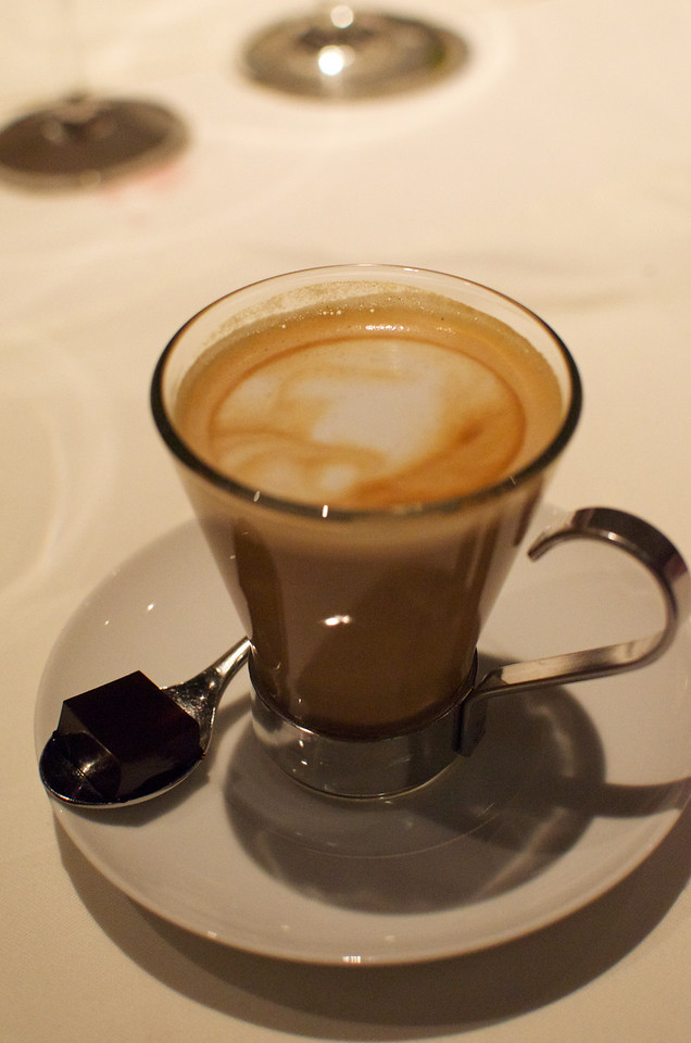 Coffee with Pedro Ximenez and Añejo Tequila Cube