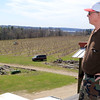 Bill Broderick the owner of Sunny Crest Orchards in Sterling Looks over his peach trees and talked about how they will not bear fruit this year. SENTINEL & ENTERPRISE/JOHN LOVE