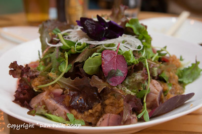 sashimi salad with tuna