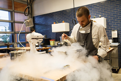 Chef Ryan Fox of Nomad.PDX making ice cream
