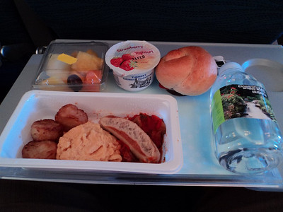 Sausage Omelette. Served on board Air Canada  27/01/14