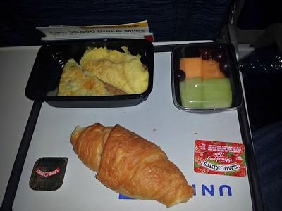 Breakfast, served on board United Airways  10/02/15