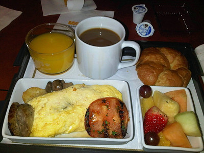 Omelette Breakfast.  Served to VIA Business Class Passengers  03/02/14