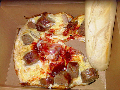 Sausage, Onion & Spicy Tomato Omelette, served with warm baguette. £6. Served onboard First Great Western's Travelling Chef service  19/06/12