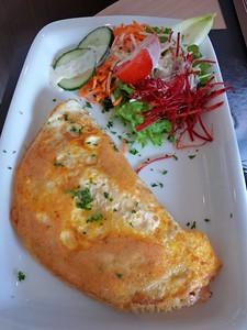"Omelette, served in ""Pistache"" in Oostende, Belgium  27/04/15"
