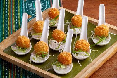 Coconut Shrimp Balls with Pomelo Bits