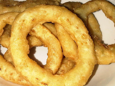 "Onion Rings.  Served in ""The Griffin"" in Carlisle  03/12/12"