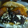 Arepas- Pabellón: black beans, mechada, tajadas and queso blanco<br />  - Orinoco Brookline