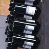 A riddling rack holds the wine- Orinoco Brookline