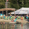 Outdoor dining at the Sunset Tiki Bar at Nashoba Valley Ski Area in Westford. One of the attractions is a place for the kids to swim. (SUN/Julia Malakie)
