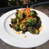 Outdoor dining at the Gallery Cafe at 529 King Street in Littleton. Brussels Sprout Salad (Roasted Brussels sprouts with pickled beets mixed with ginger carrots and tossed with a soy and toasted sesame seed dressing). (SUN/Julia Malakie)