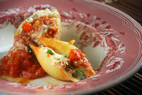 Veggie Stuffed Pasta Shells