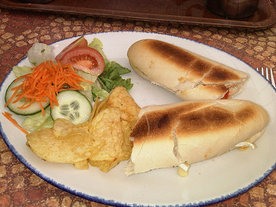 "Chilli Chicken Panini, served in ""Fermoys"" near Newton Abbot  06/07/12"