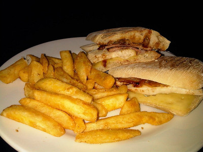 "Chicken & Bacon Panini. Served in ""Wetherspoons""  04/12/12"