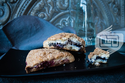 Raspberry and blackberry scones