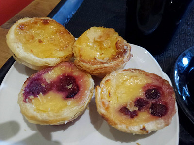 """Portuguese Tarts, served in """"Coffee#1"""" in Taunton  04/08/14"""