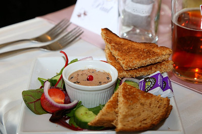 """Pate - chicken liver pate served with freshly baked bread, rustic garnish and pickle. £5.95. Served in """"the """"Nags Head Tavern"""" in Taunton  03/05/14"""