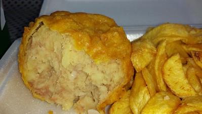 Meat Pattie & Chips