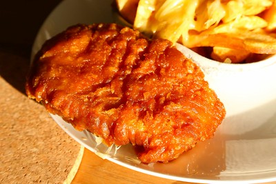 """Meat & Potato Pattie with Cheesy chips from """"Moorclose Fisheries"""" in Workington  17/06/15"""