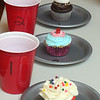 Some of the entries in the cupcake contest as Lawrence Library in Pepperell holds its fifth annual Cupcake Festival fundraiser. (SUN/Julia Malakie)