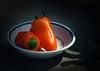 Peppers, enamal dishes, red, orange, food