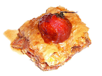 Tomato, Fennel, Date and Nut Baklava recipe by Chef Faiza Hasan created for the Number 68 Project supper club held in London on May 9, 2010. Photo by Montillo Italian Foods, copyright May 13, 2010