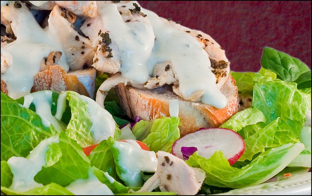 chicken salad close up