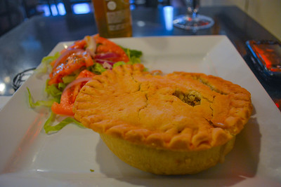 Chicken Pot Pie with a small salad