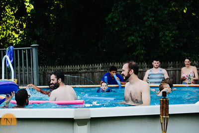 Pizza Brain and Pool Party